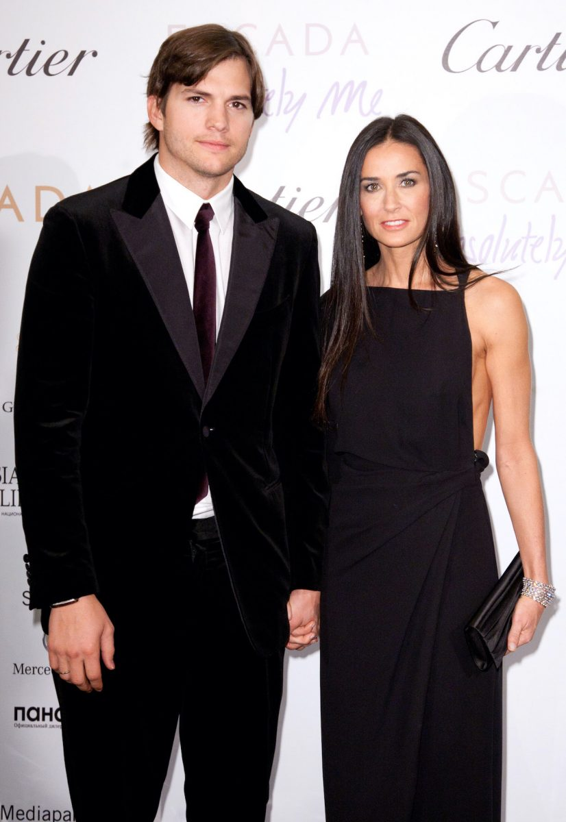 Ashton Kutcher and Demi Moore attend the Charity Gala at The Ritz-Carlton on October 30, 2010