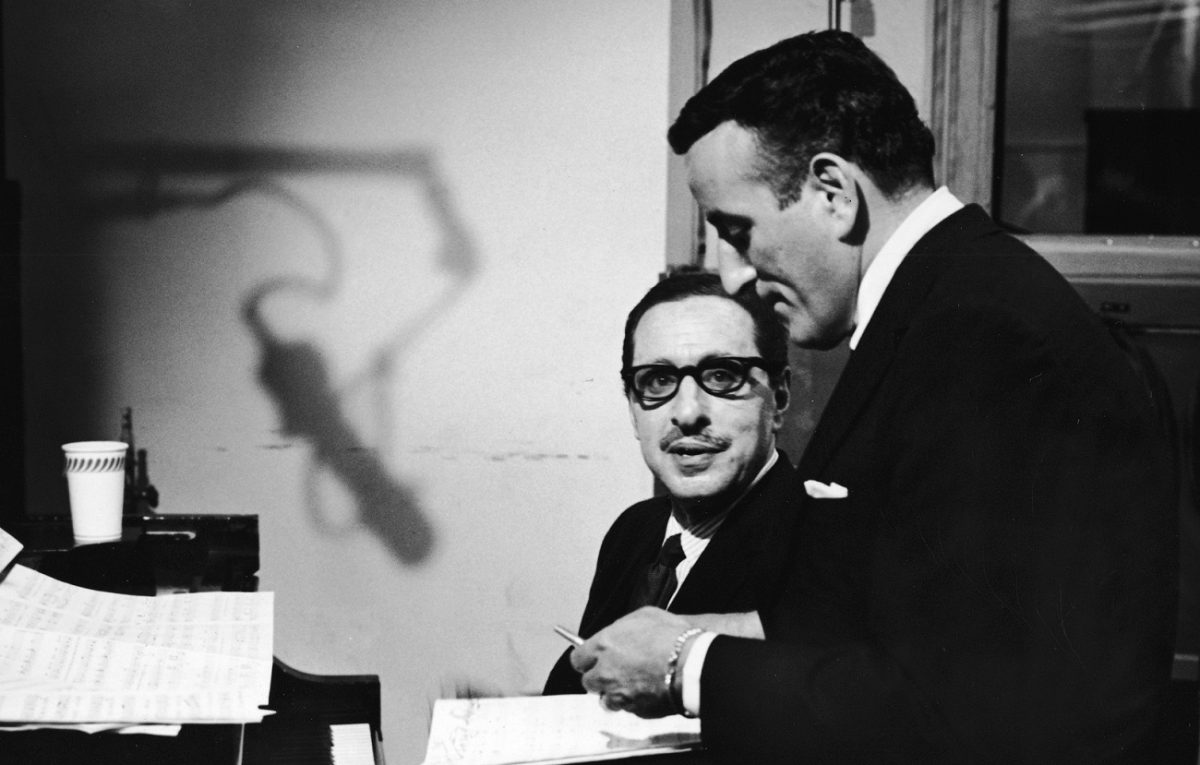 Harold Arlen and Tony Bennett work at the piano in the '50s
