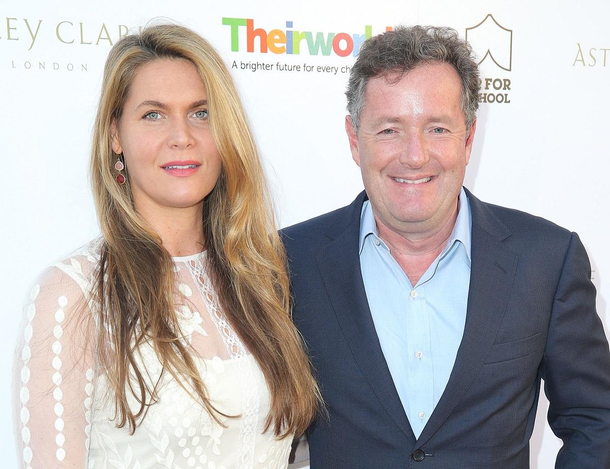 Piers Morgan (R) and wife, Celia Walden, on June 2, 2015, in Los Angeles, California.
