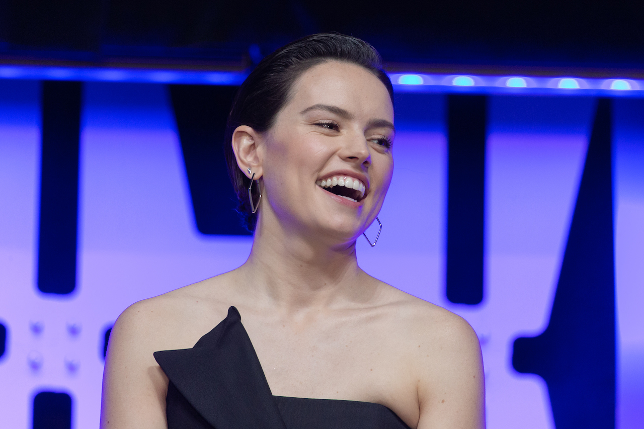 """Daisy Ridley appears at the """"Star Wars: Episode IX"""" panel presentation at the 2019 Star Wars Celebration"""