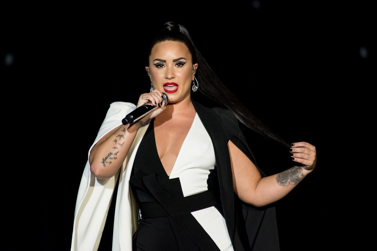 Demi Lovato performs at day two of Rock in Rio Lisbon on June 24, 2018, in Lisbon, Portugal.