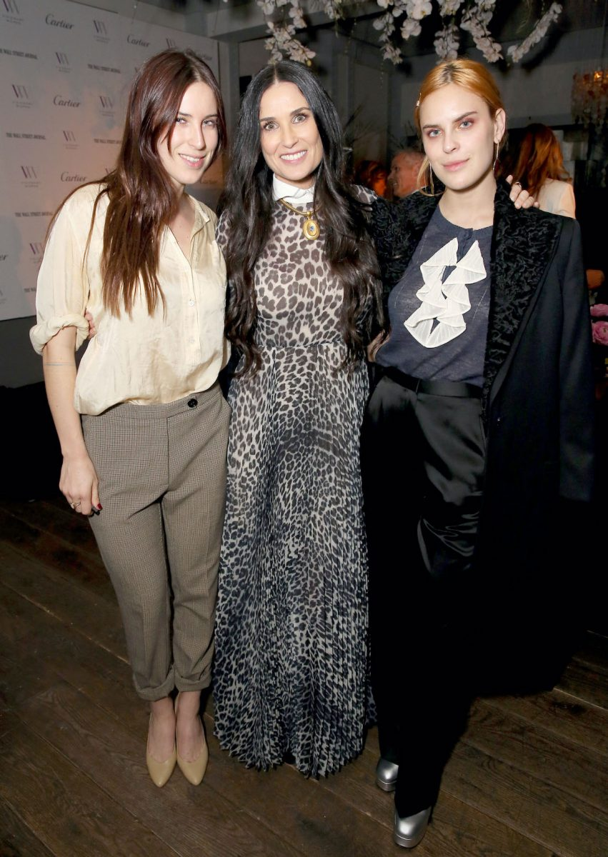 Demi Moore (C) and daughters Scout laRue Willis and Tallulah Willis