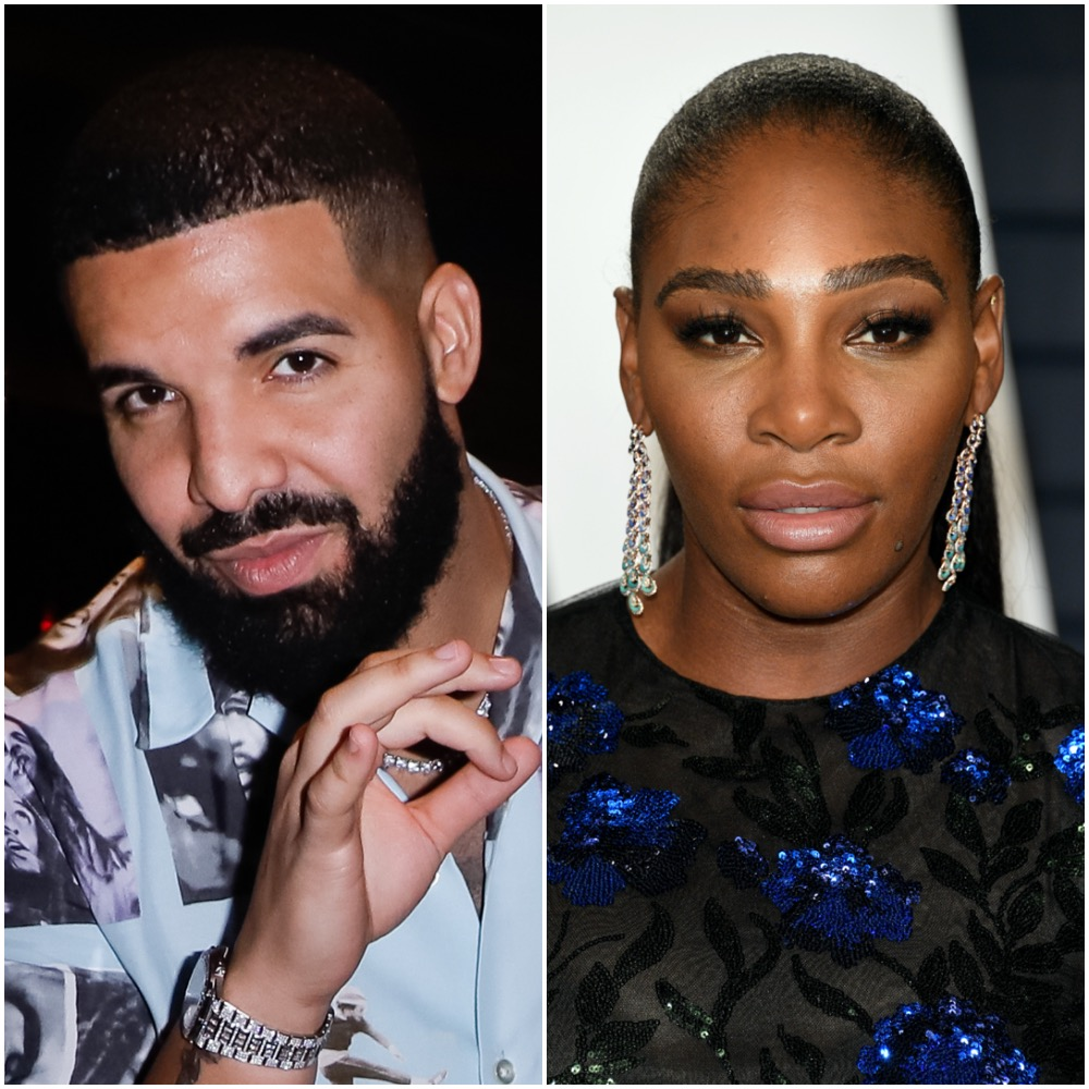 Drake and Serena Williams in a photo collage