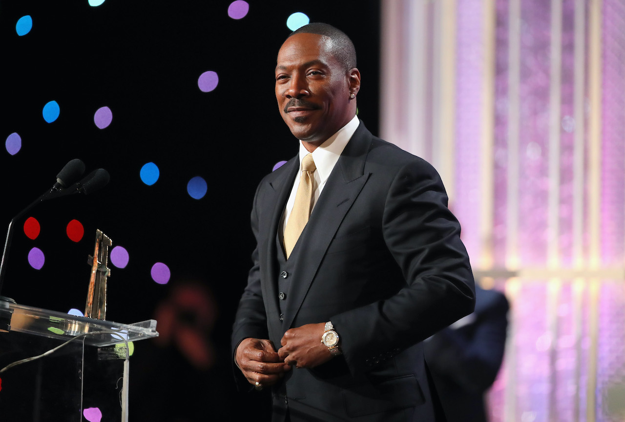 Eddie Murphy speaks onstage during the 20th Annual Hollywood Film Awards