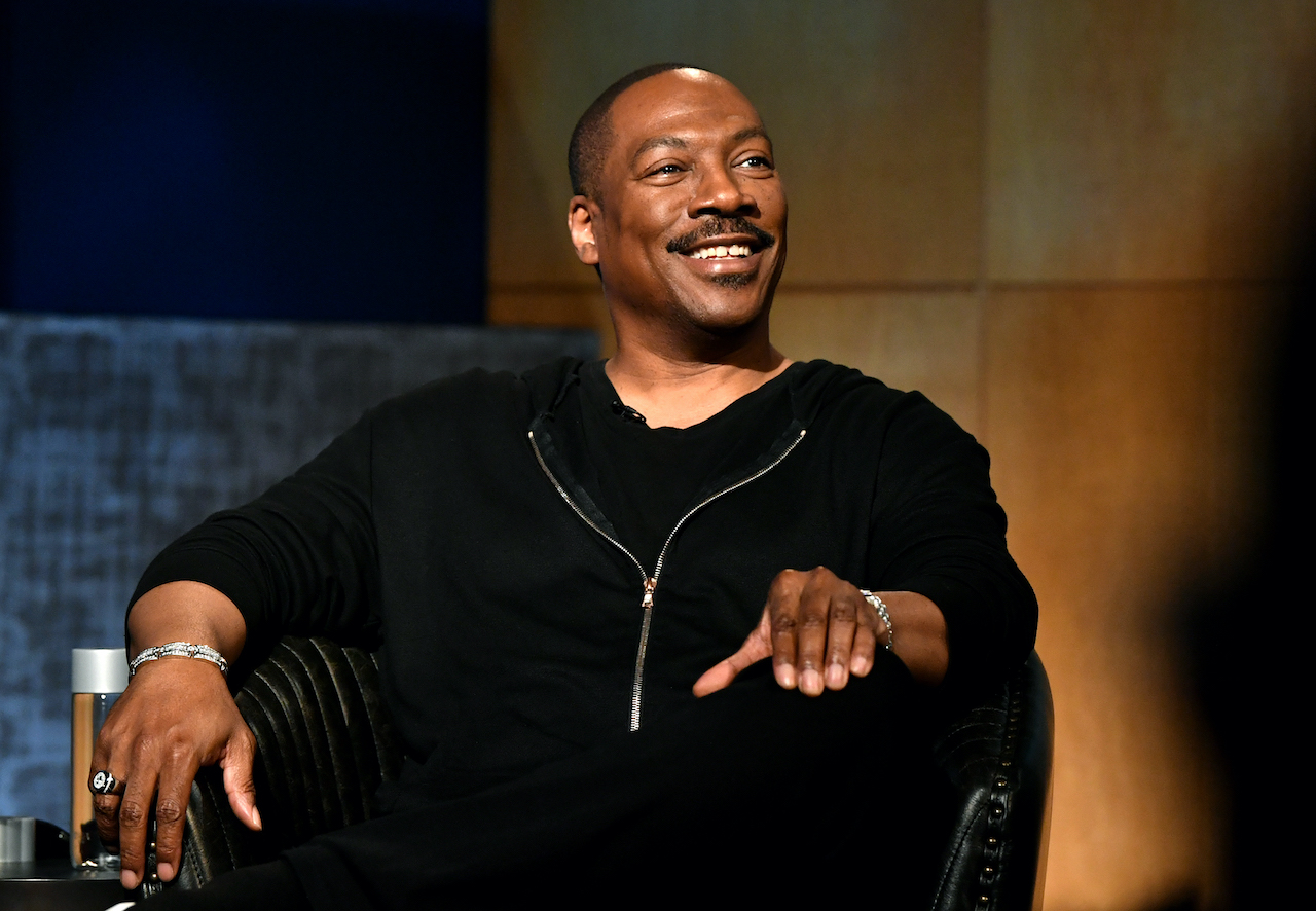 Eddie Murphy speaks onstage during  the LA Tastemaker event for Comedians in Cars at The Paley Center for Media