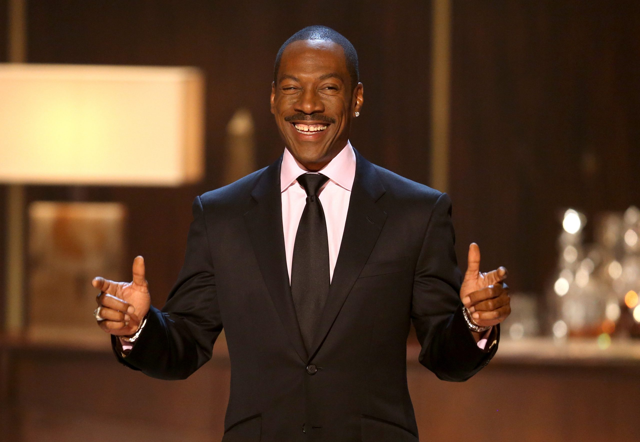 "Eddie Murphy speaks onstage at Spike TV's ""Eddie Murphy: One Night Only"" at the Saban Theatre"