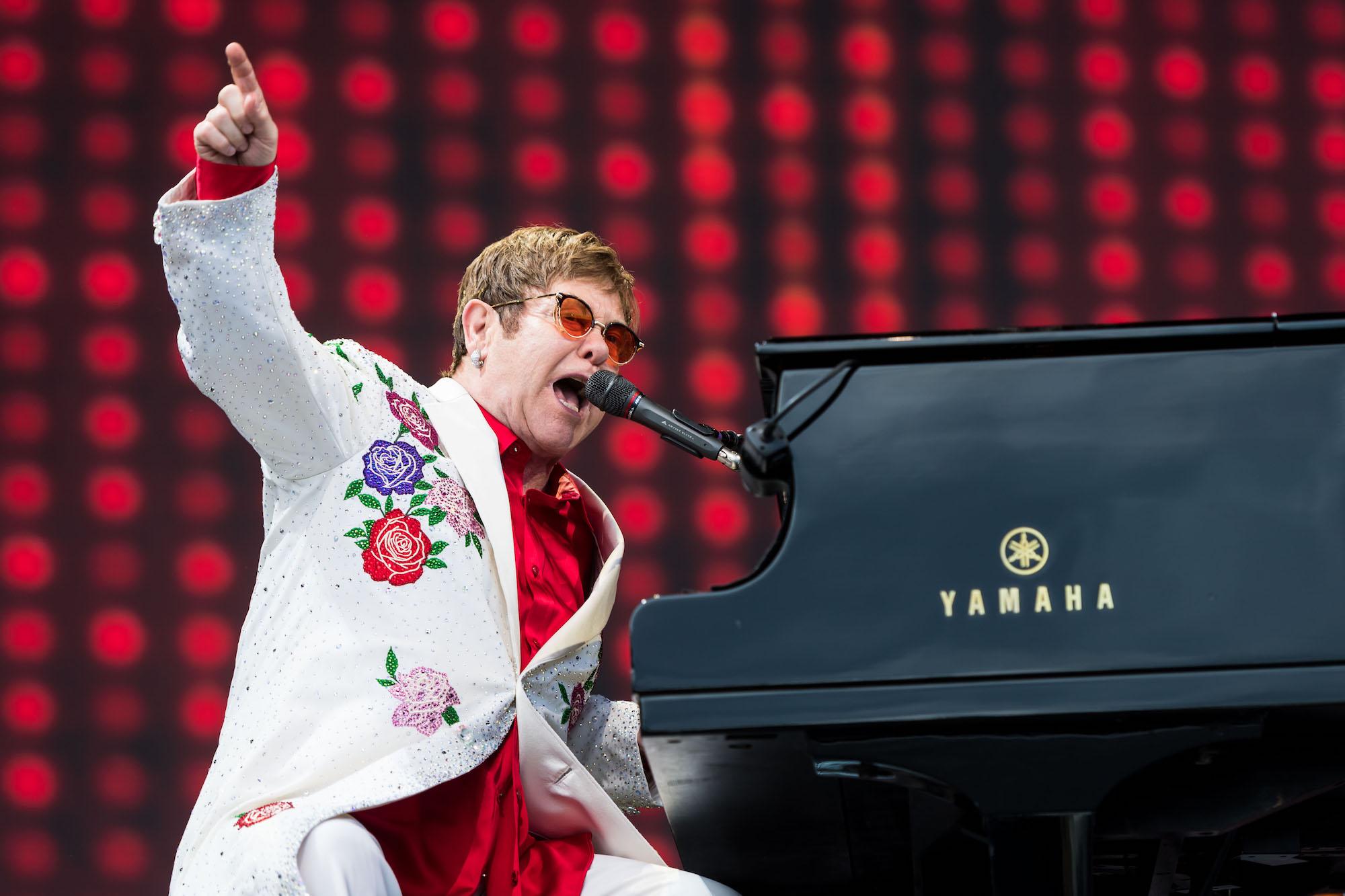 Elton John performs live at Twickenham Stoop on June 3, 2017