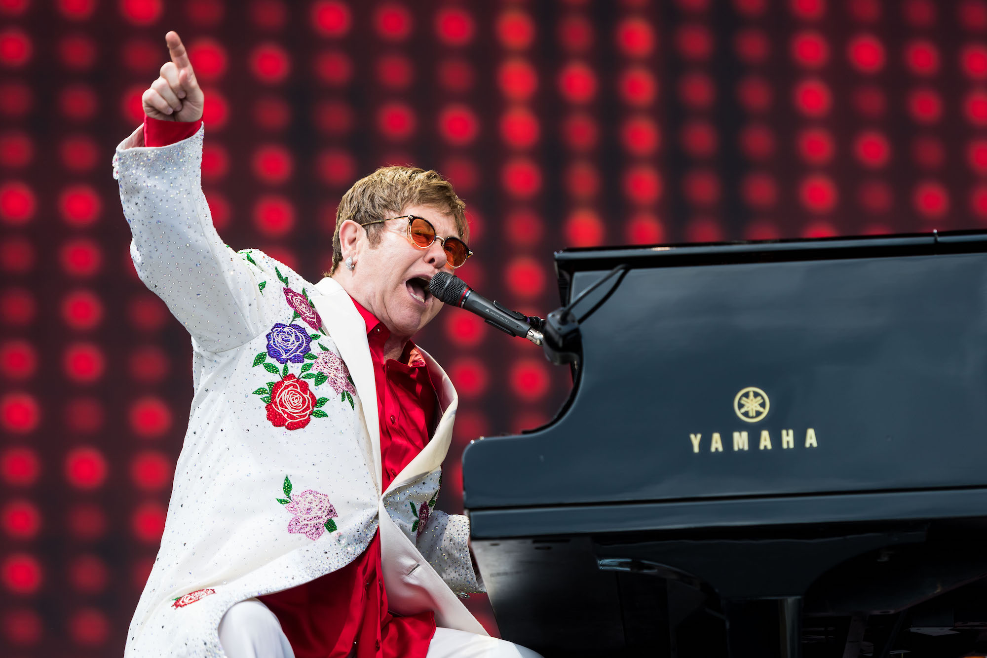 Elton John performs live at Twickenham Stoop on June 3, 2017