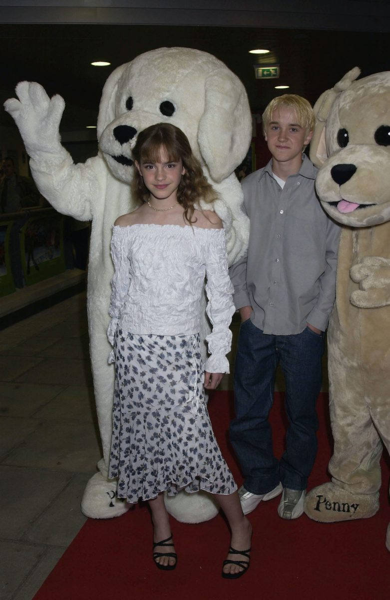 Emma Watson and Tom Felton from the 'Harry Potter' film series in 2002