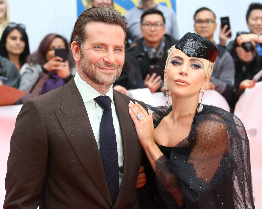 Bradley Cooper and  Lady Gaga on the red carpet