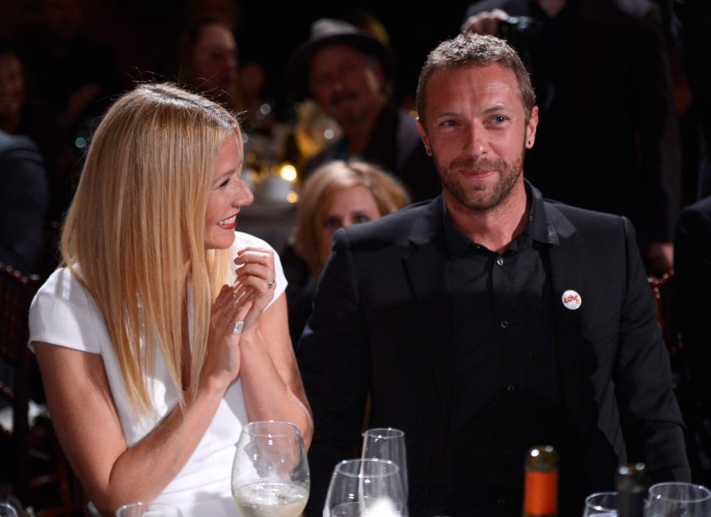 Chris Martin and Gwyneth Paltrow near people