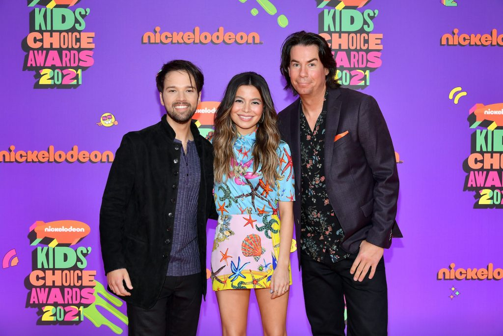 iCarly reboot cast: Nathan Kress, Miranda Cosgrove, and Jerry Trainor attend Nickelodeon's Kids' Choice Awards 2021