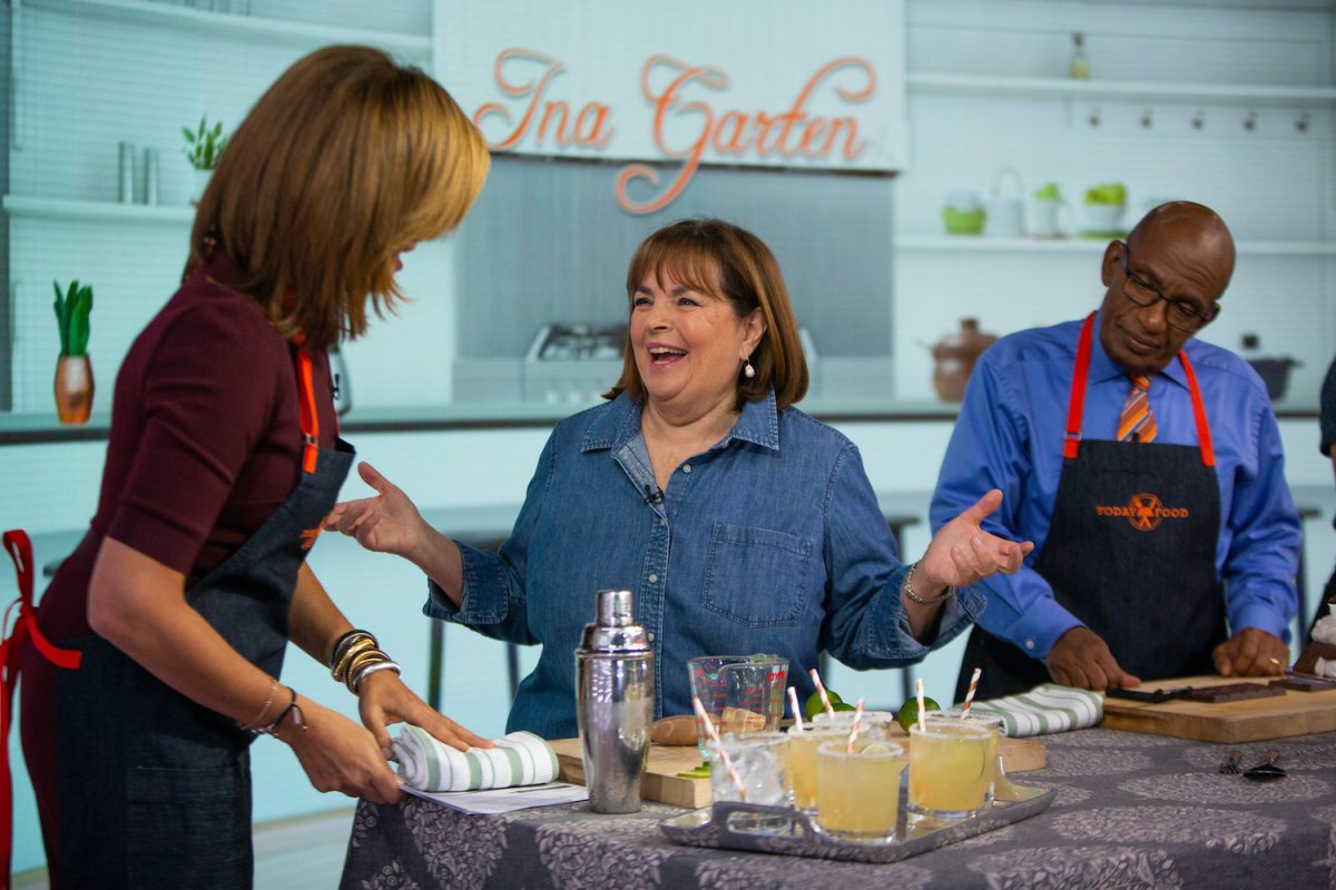 Ina Garten on the Today show during a cooking segment