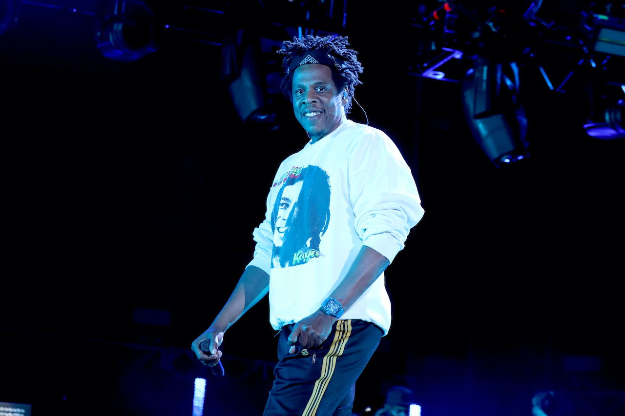 Jay-Z performs onstage at SOMETHING IN THE WATER Festival