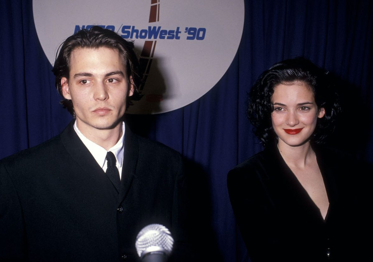 Johnny Depp and actress Winona Ryder attend the 1990