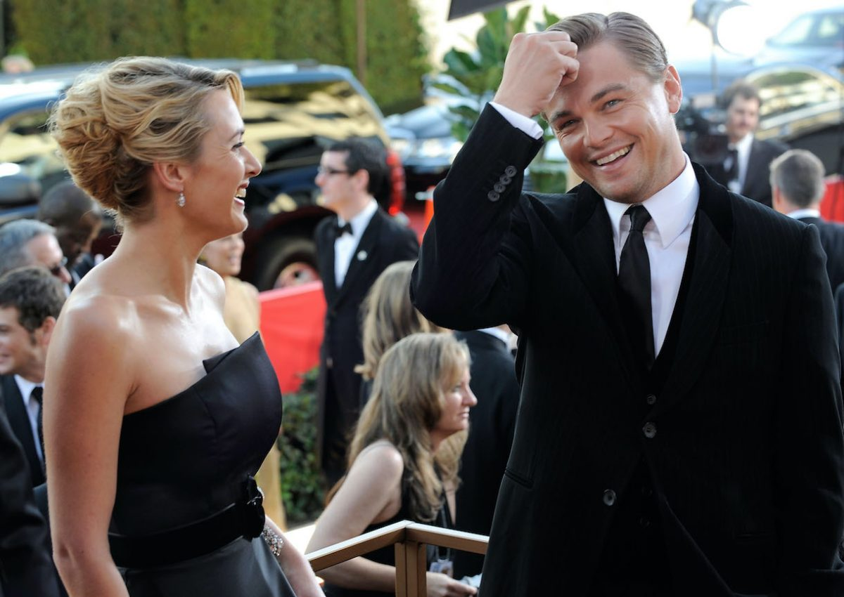 Kate Winslet and Leonardo DiCaprio arrive at the 66th Annual Golden Globe Awards held at the Beverly Hilton Hotel on January 11, 2009