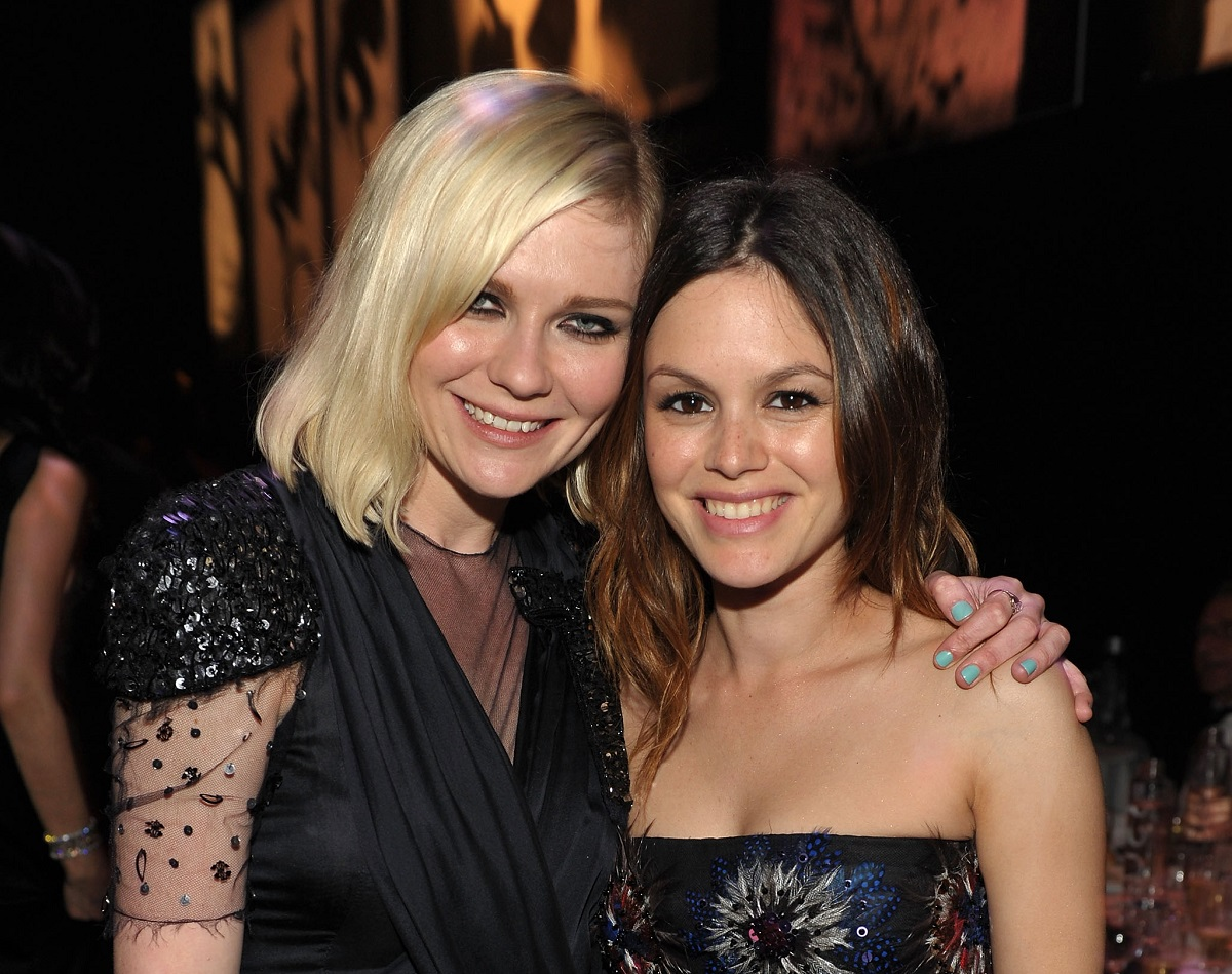 (L-R): Kirsten Dunst and Rachel Bilson on May 20, 2010, in Antibes, France.