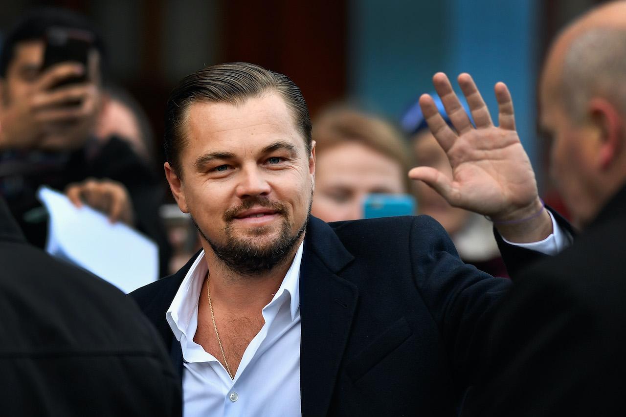 Leonardo DiCaprio arrives at Home restaurant during a visit to Edinburgh, Scotland