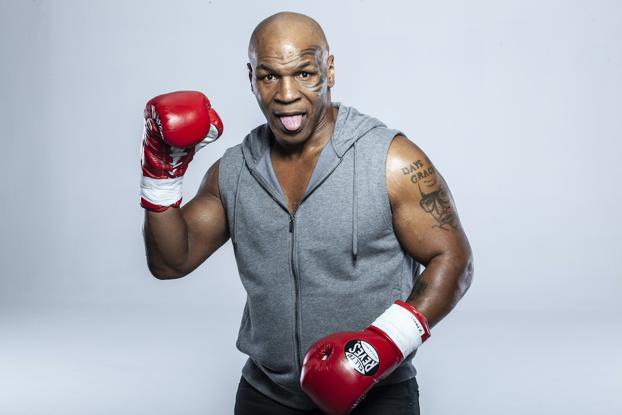 Mike Tyson poses for a portrait in December 2015 in Los Angeles, California