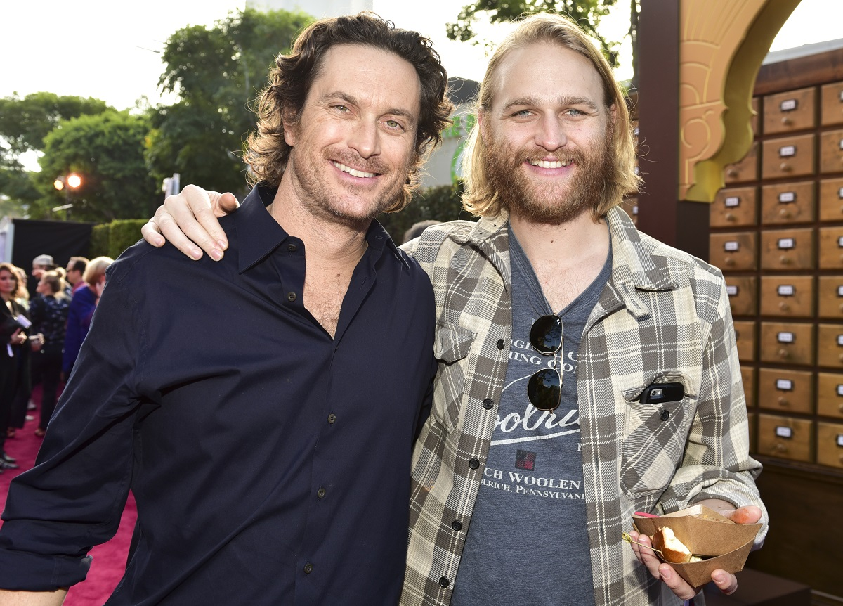 Brothers Oliver Hudson and Wyatt Russell pose on the red carpet together