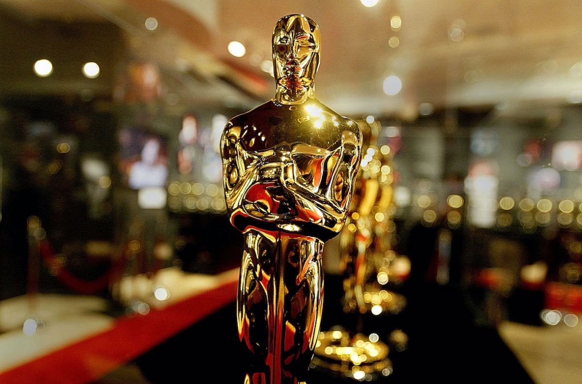 A display case is seen full of Oscar statues February 20, 2004 in Hollywood, California