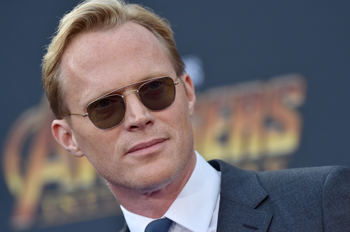Paul Bettany wearing sunglasses and a suit at the 'Avengers: Infinity War' premiere
