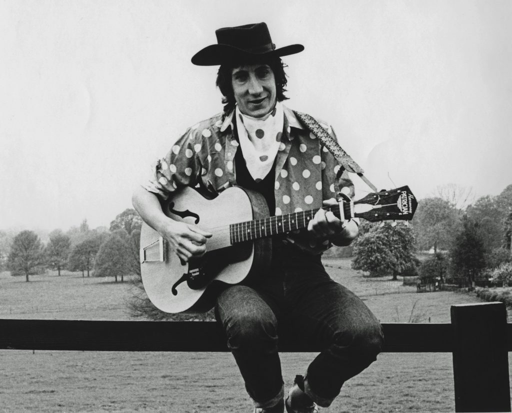 Pete Townshend of The Who wearing a cowboy hat