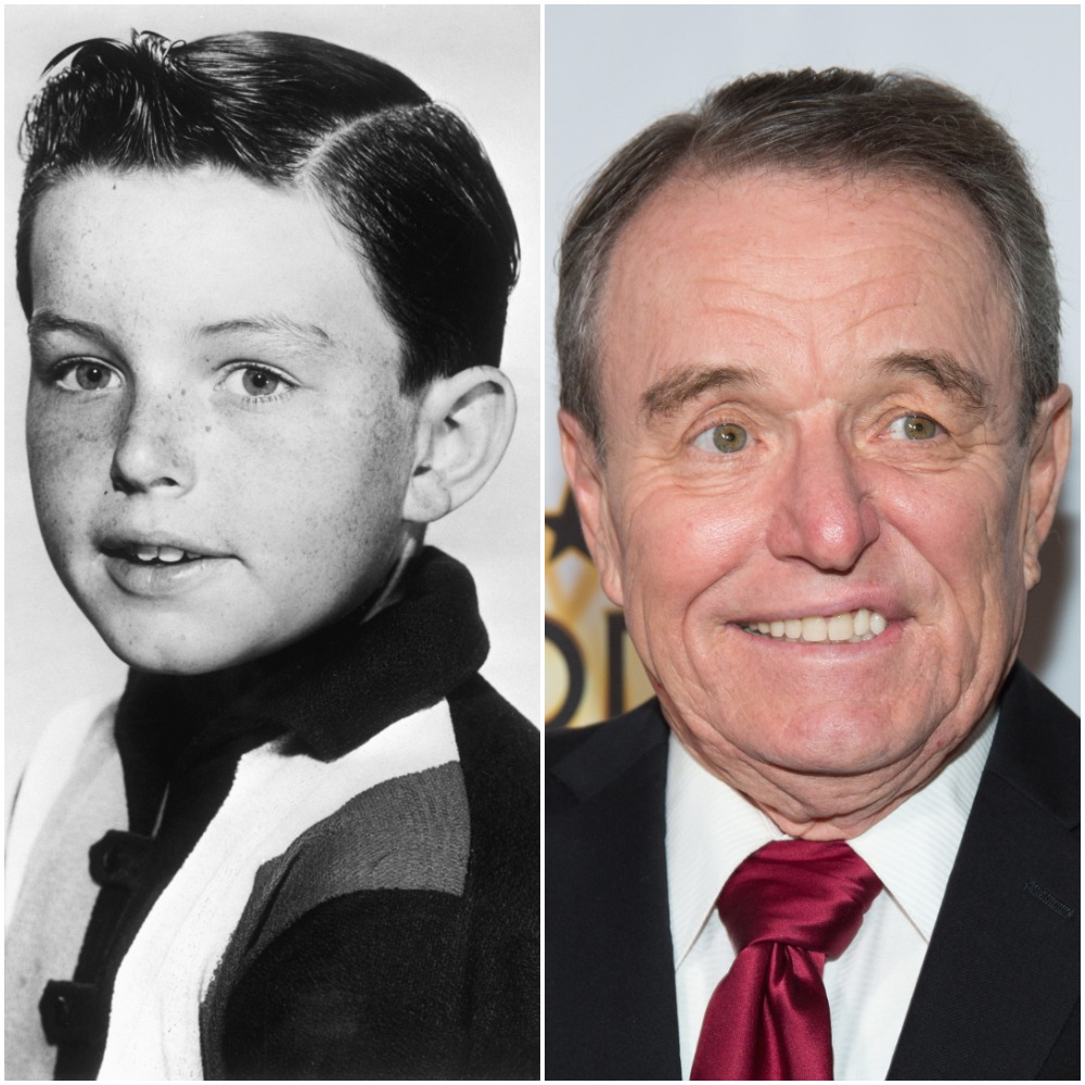 Left: Actor Jerry Mathers, 1961; Right: Jerry Mathers, 2016