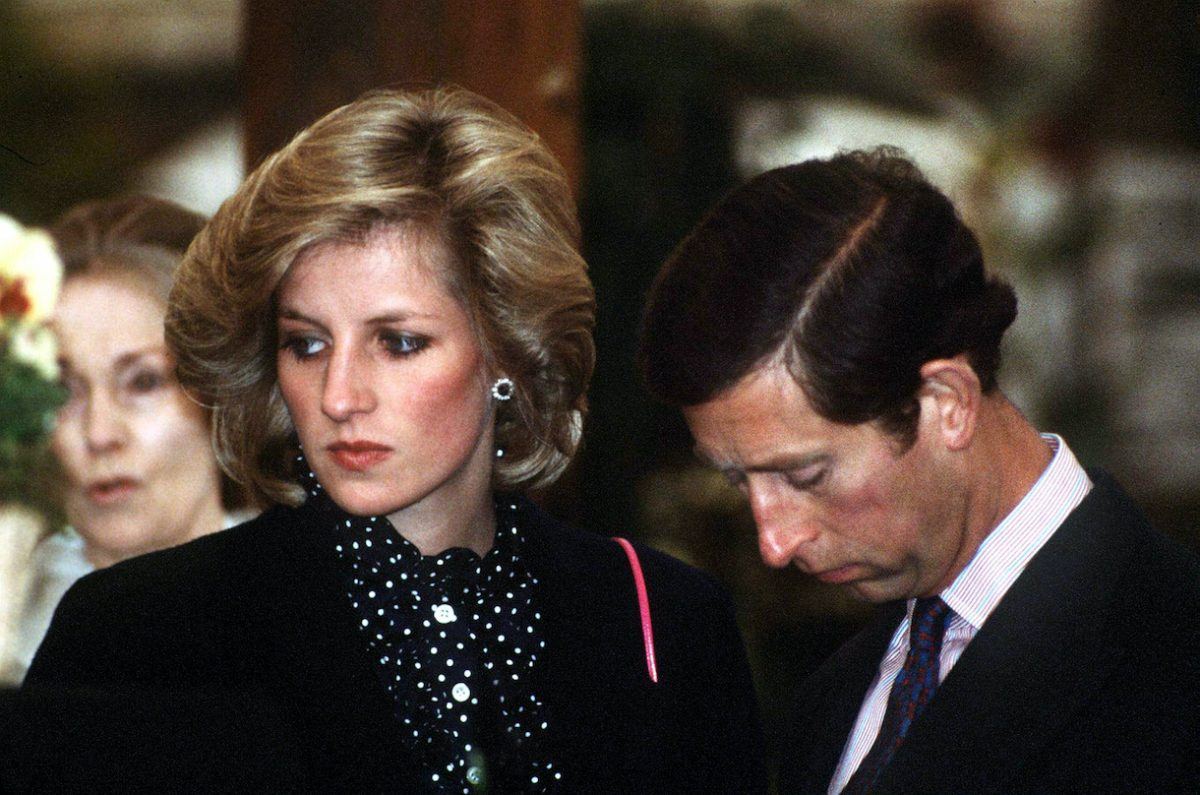 Prince Charles and his pregnant wife Princess Diana at the Chelsea Flower Show in London, 1984