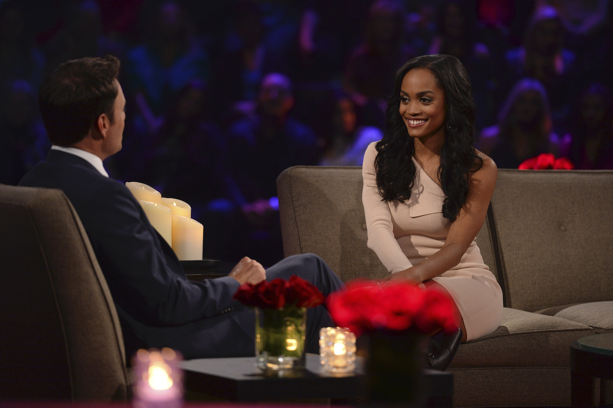 """Rachel Lindsay at the """"Women Tell All"""" during Season 21 of 'The Bachelor,' which she was a contestant on"""