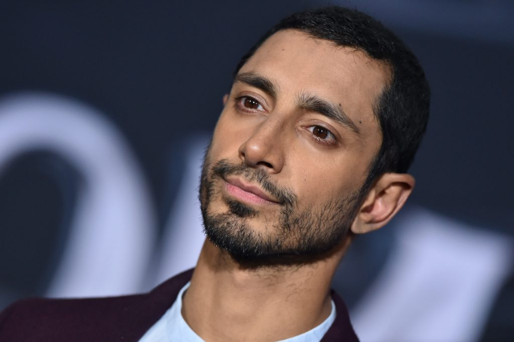 Riz Ahmed attends the premiere of Columbia Pictures' 'Venom' at Regency Village Theatre