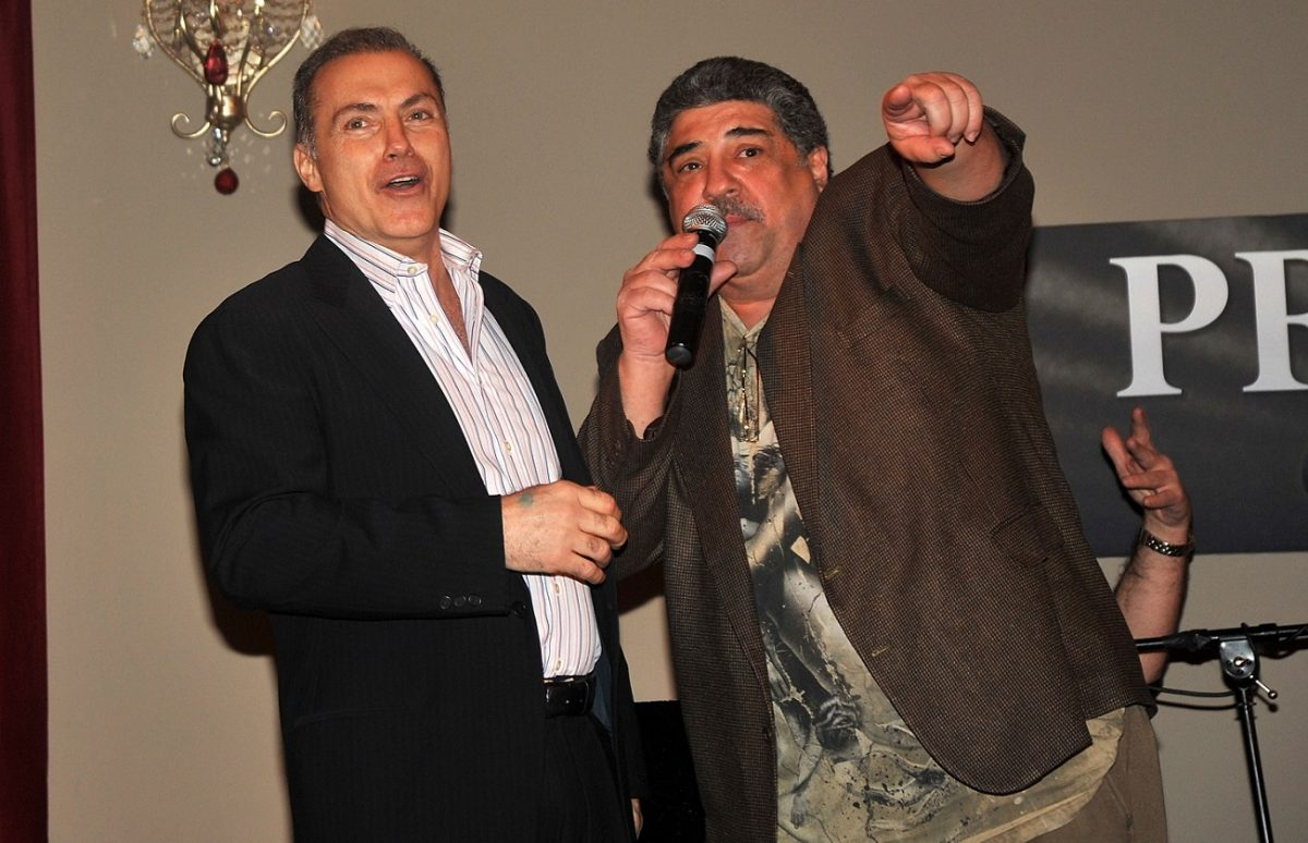 Al Sapienza and Vincent Pastore on stage in 2010