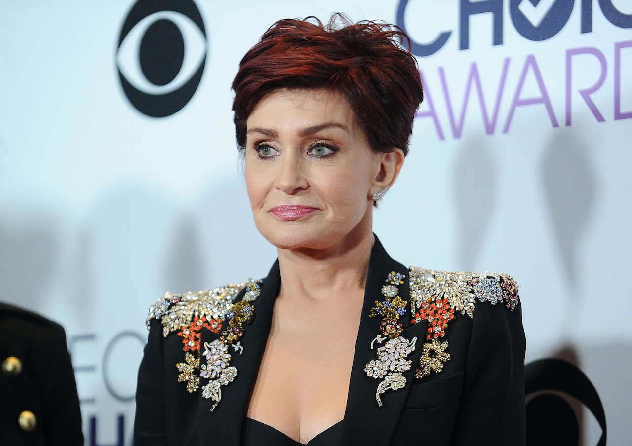 Sharon Osbourne poses in the press room at the 2016 People's Choice Awards at Microsoft Theater