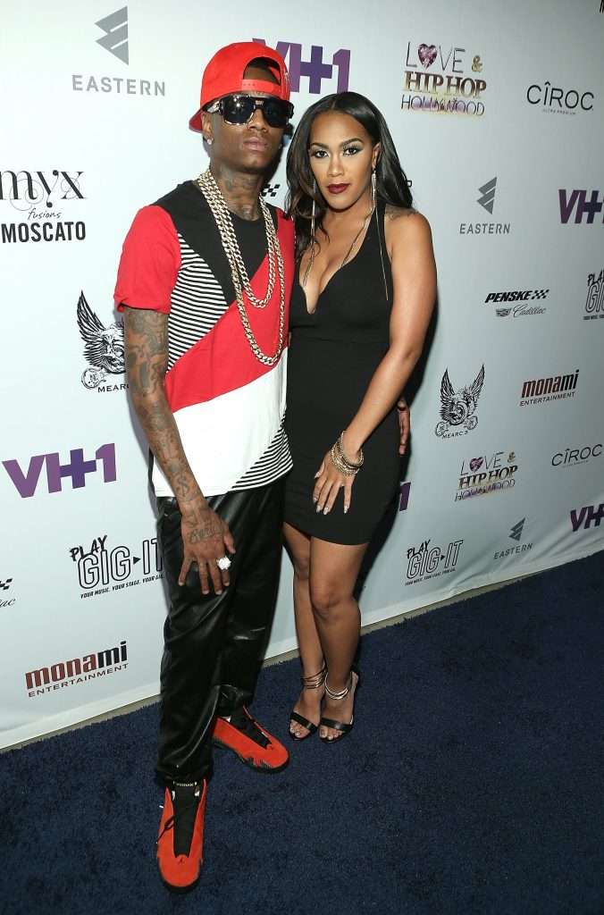 Soulja Boy and Nia Riley on the red carpet in 2014