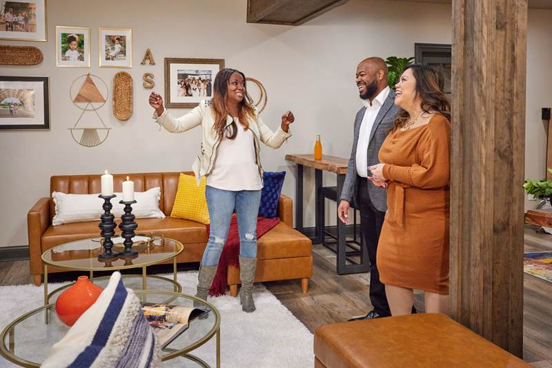 Designer Tiffany Brooks shows couple a house in an episode of $50K Three Ways