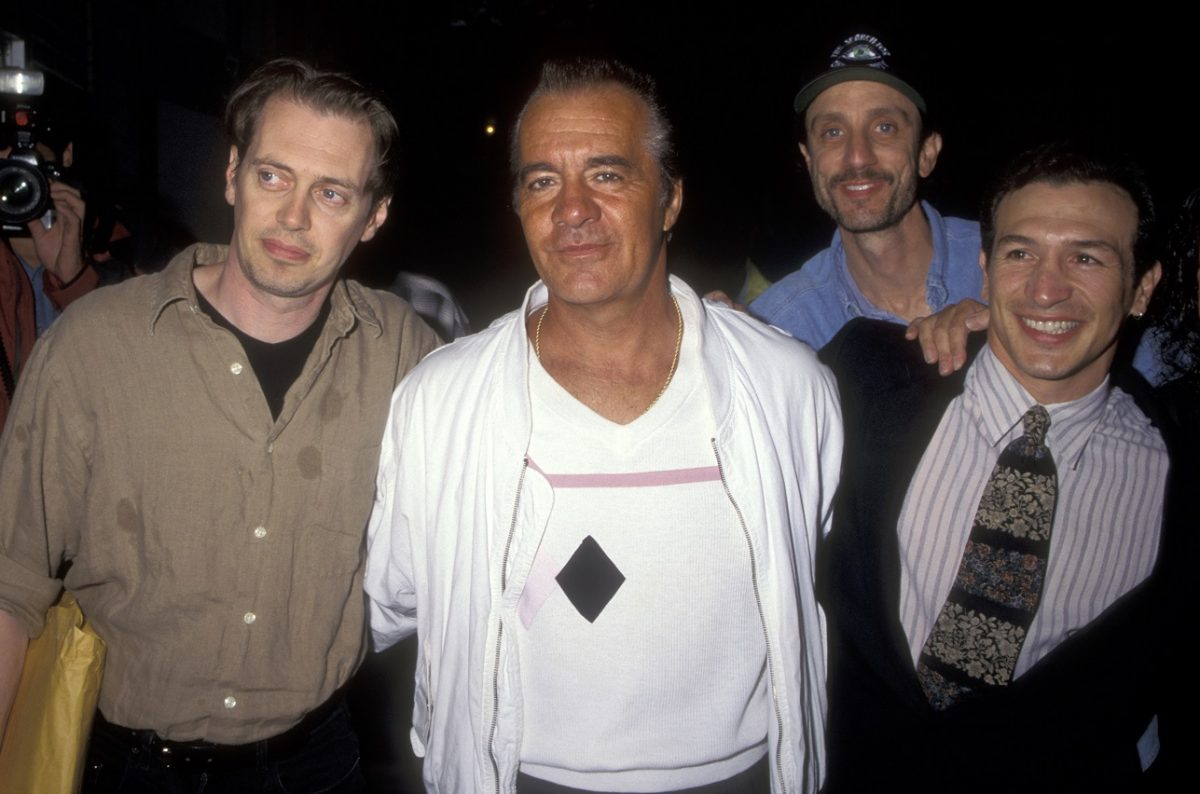 Steve Buscemi arrives with Tony Sirico and others at a film premiere