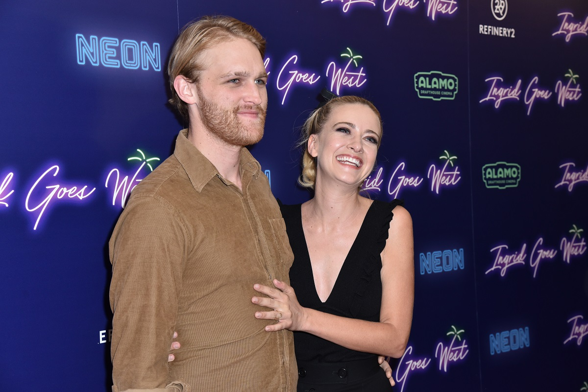 Wyatt Russell and Meredith Hagner attend the New York premiere of 'Ingrid Goes West' on August 8, 2017.