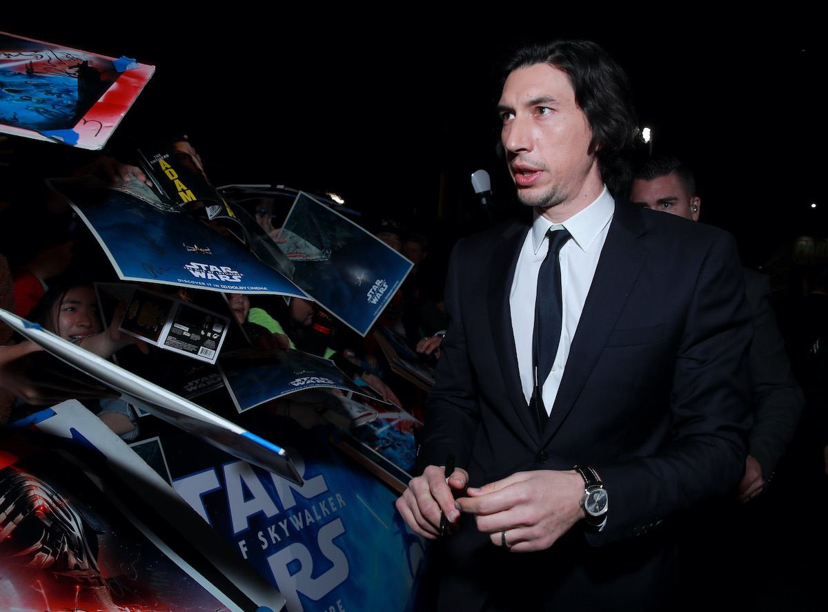 Adam Driver greets fans at the 'Star Wars: The Rise Of Skywalker' premiere