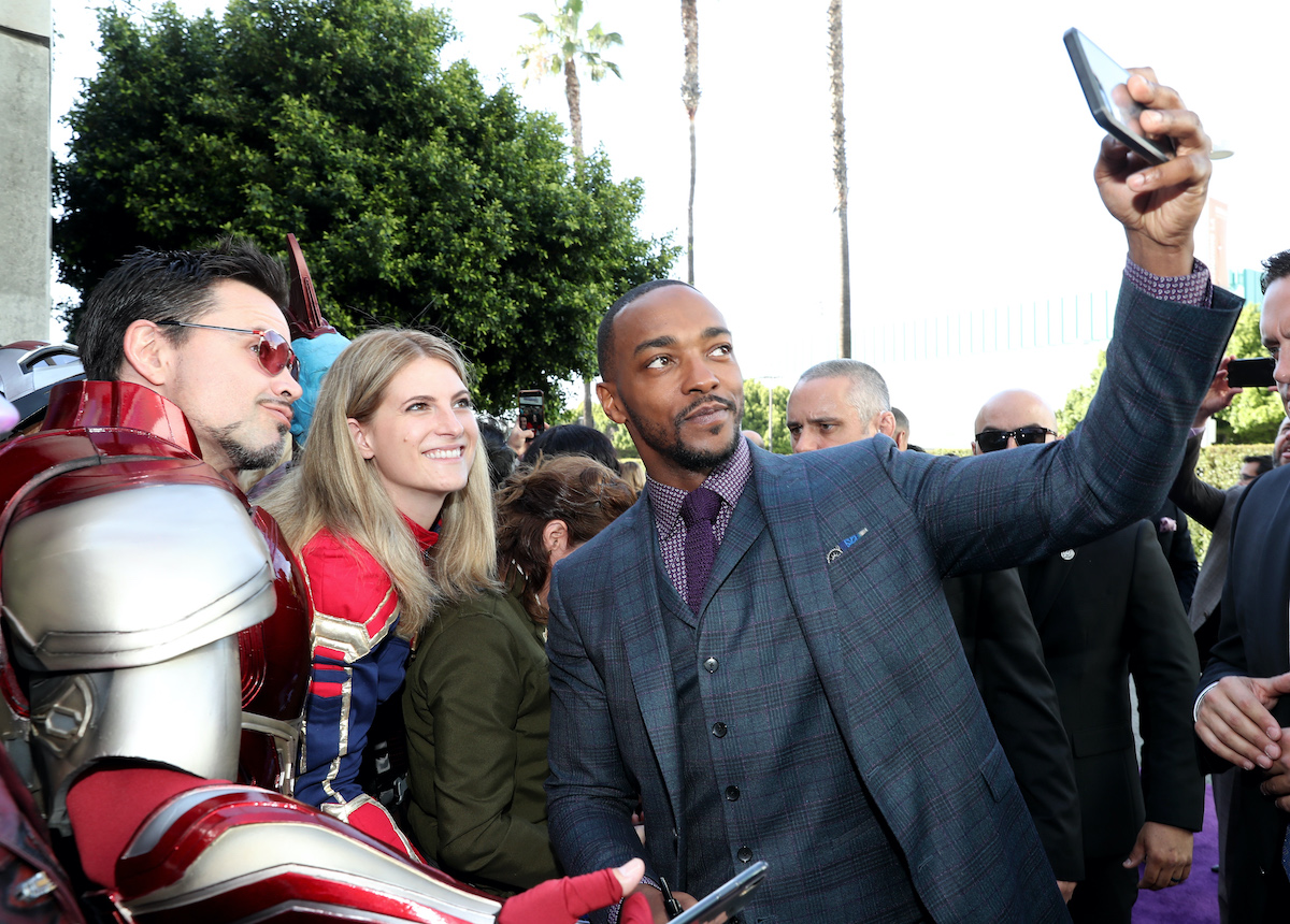 Anthony Mackie attends the Los Angeles world premiere of 'Avengers: Endgame' in 2019