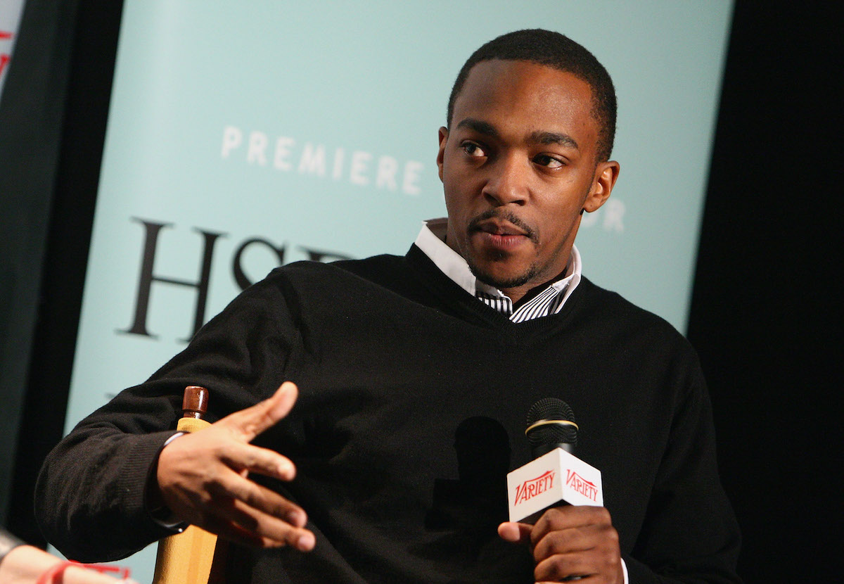 Anthony Mackie speaks at a screening of 'The Hurt Locker' during the 2009 New York Variety Screening Series