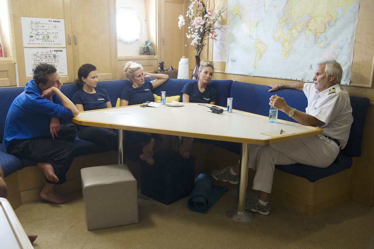 Ben Robinson, Amy Johnson, Kat Held, Kate Chastain, Captain Lee Rosbach on Below Deck