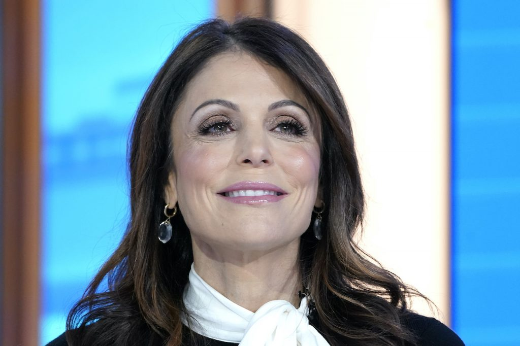 Bethenny Frankel smiles on the set of 'Mornings With Maria' at Fox Business Network Studios