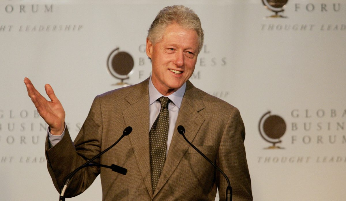 Bill Clinton speaks to the Gobal Business Forum, in Melbourne
