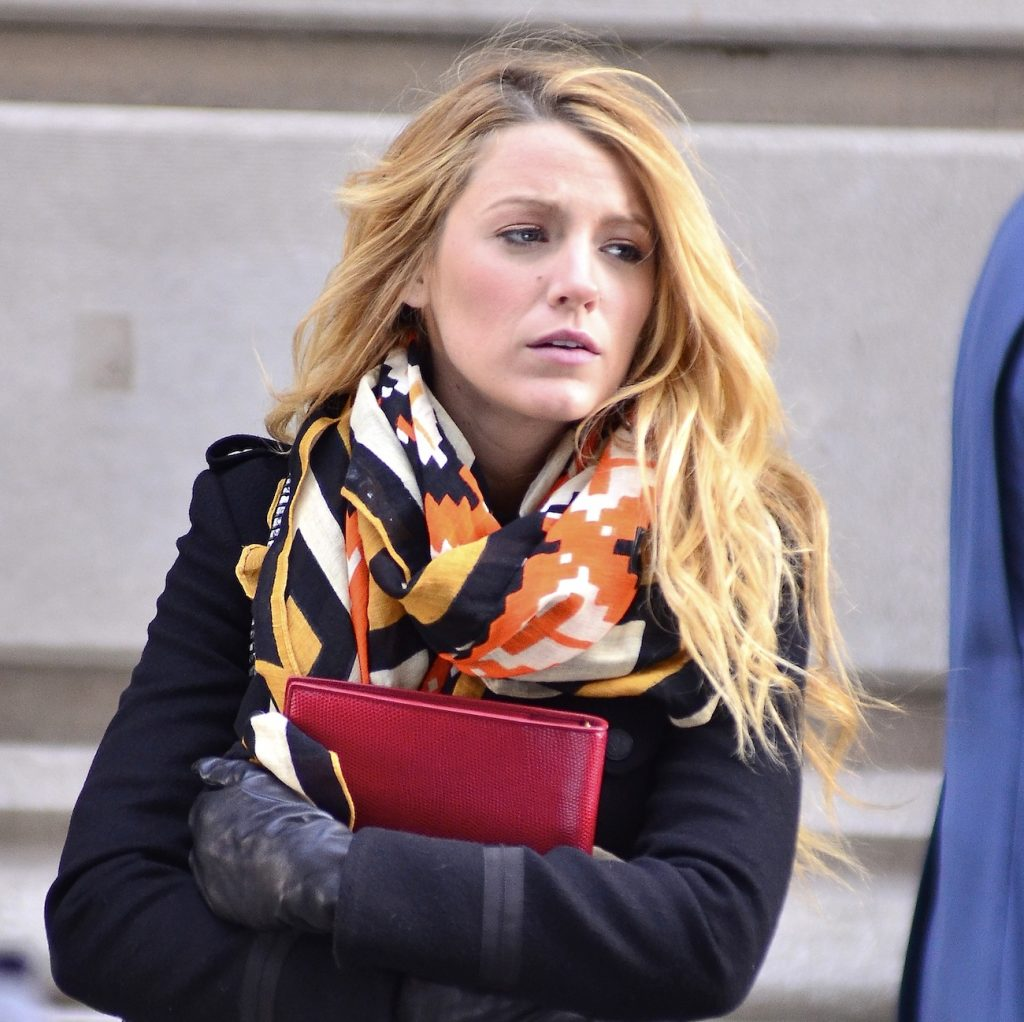 Blake Lively looking on