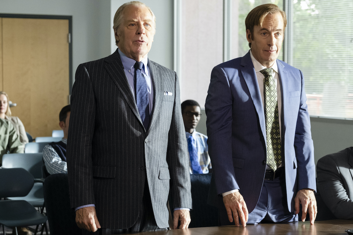 Bob Odenkirk and Michael McKean while filming season 4 of Better Call Saul