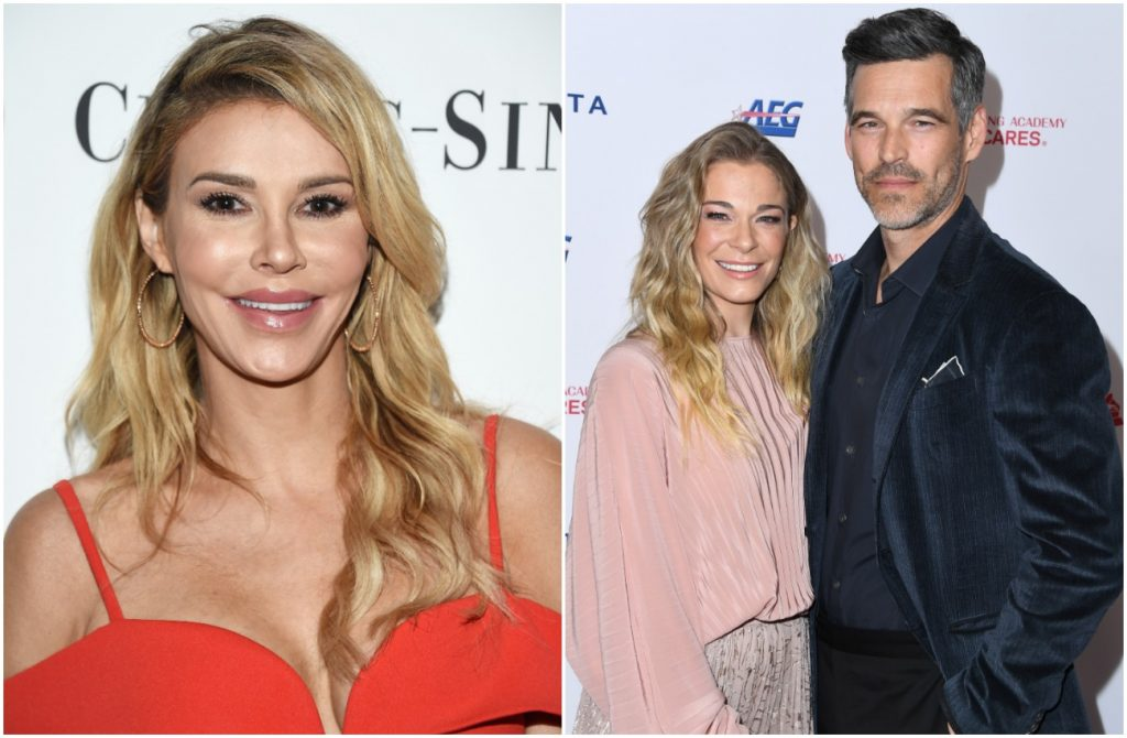 Photos of Brandi Glanville and LeAnn Rimes and Eddie Cibrian side by side