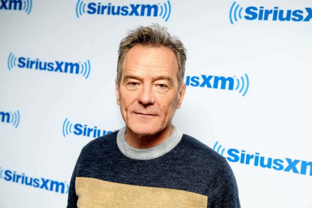 Bryan Cranston in front of a white background