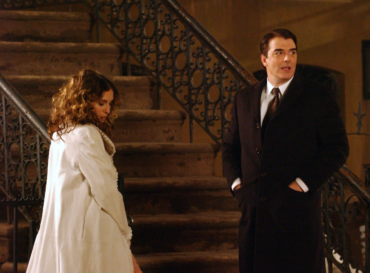 Sarah Jessica Parker and Chris Noth film Sex and the City finale