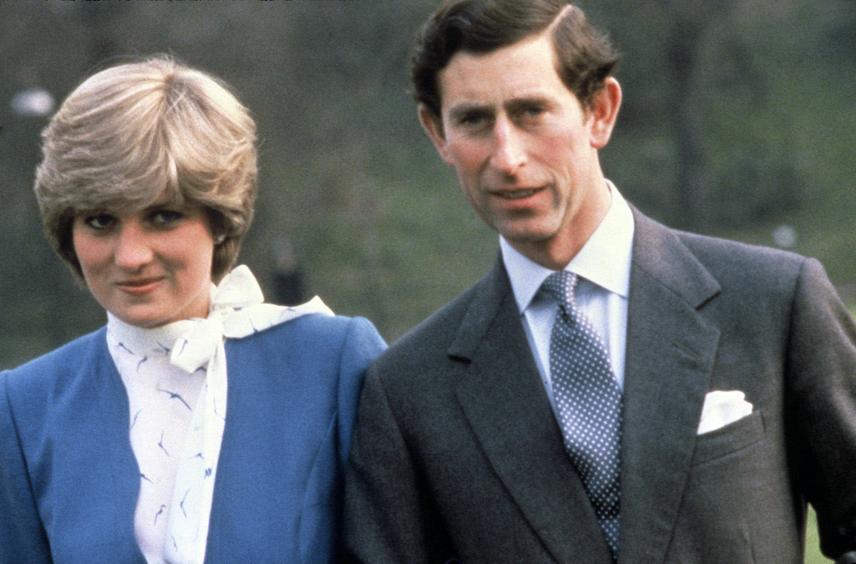 Prince Charles and Princess Diana pose for their official engagement photo