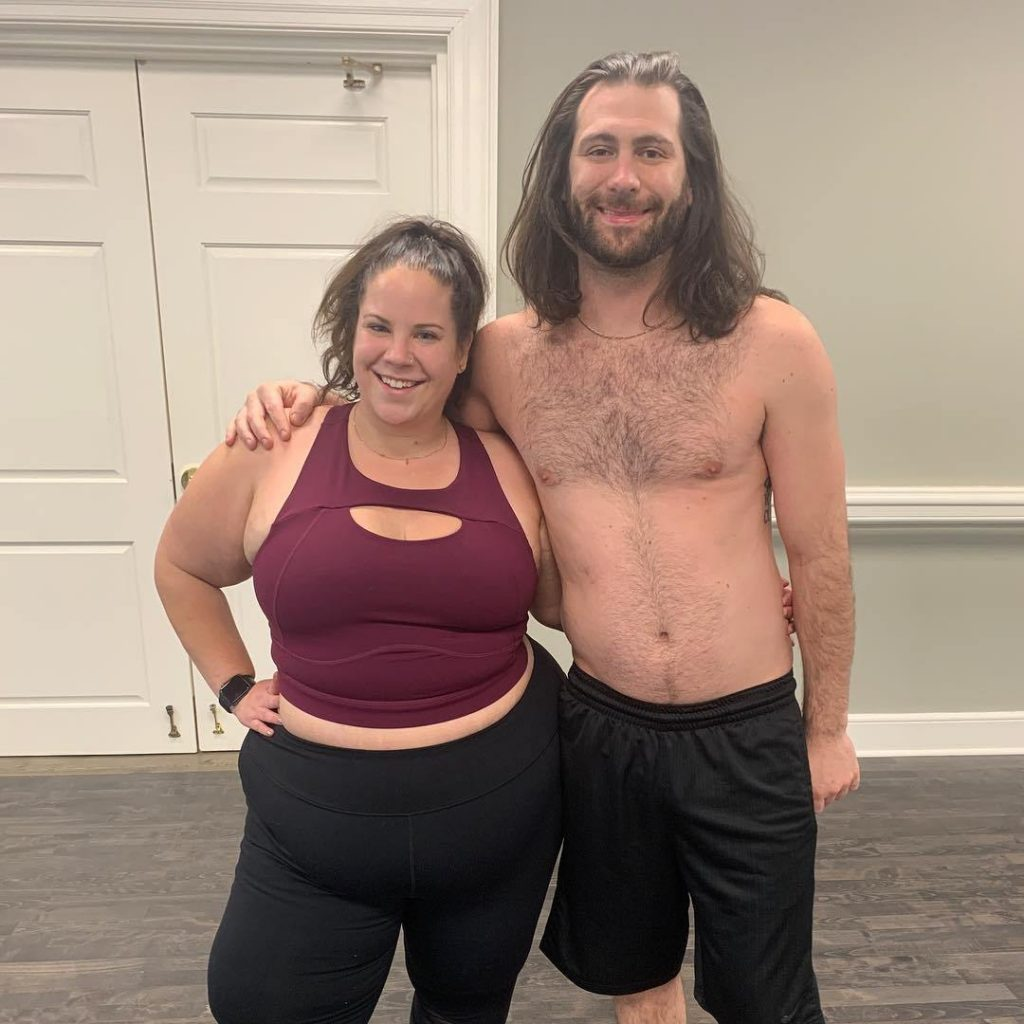 (L-R) Whitney Way Thore and Chase Severino smiling
